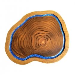 Tábua de Madeira Rústica Teca 36 x 30 cm