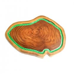 Tábua de Madeira Rústica Teca 43 x 30 cm