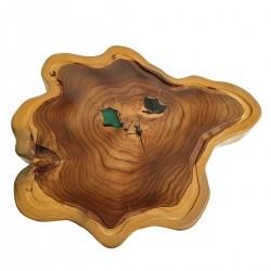 Tábua de Madeira Rústica Teca 46 x 39 cm