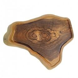 Tábua de Madeira Rústica Teca 52 x 40 cm