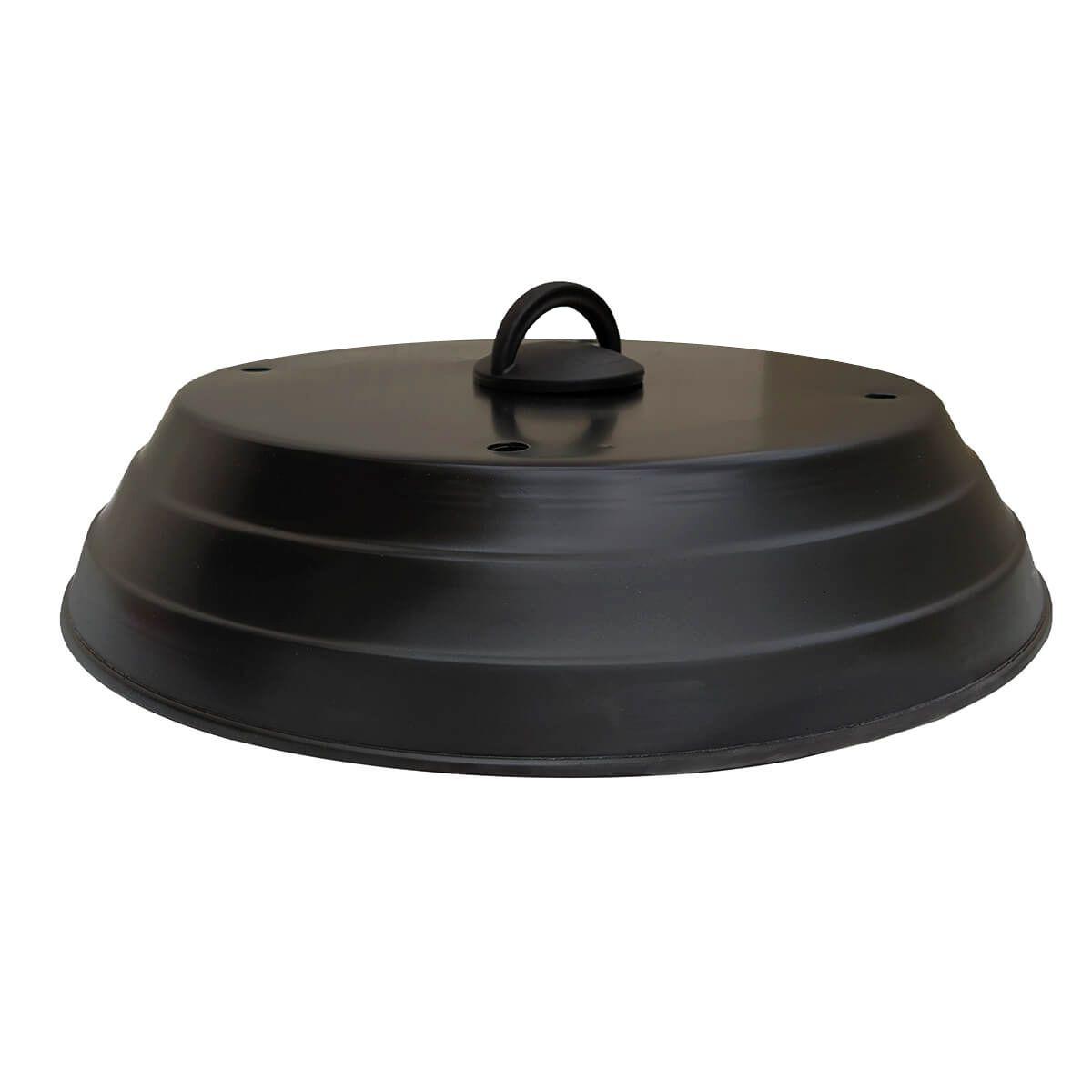 Abafador de Pizza para Churrasqueira Preto 40 cm