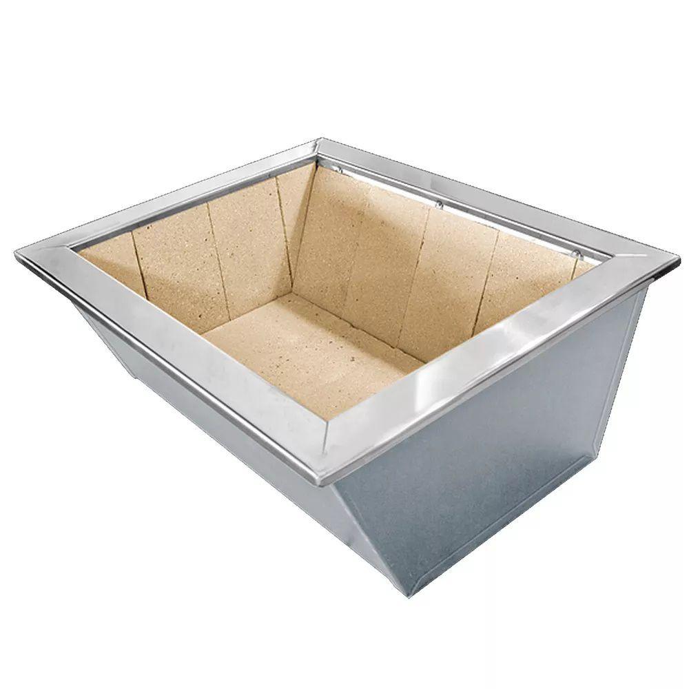 Caixa de Braseiro Inox 430 para Bancada - JX Metais - 70 x 50