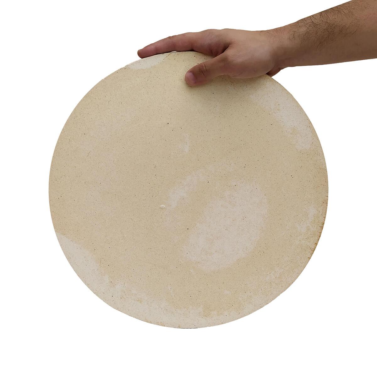 Pedra Refratária Cordierita Redonda para Pizza - 37cm x 1,2cm