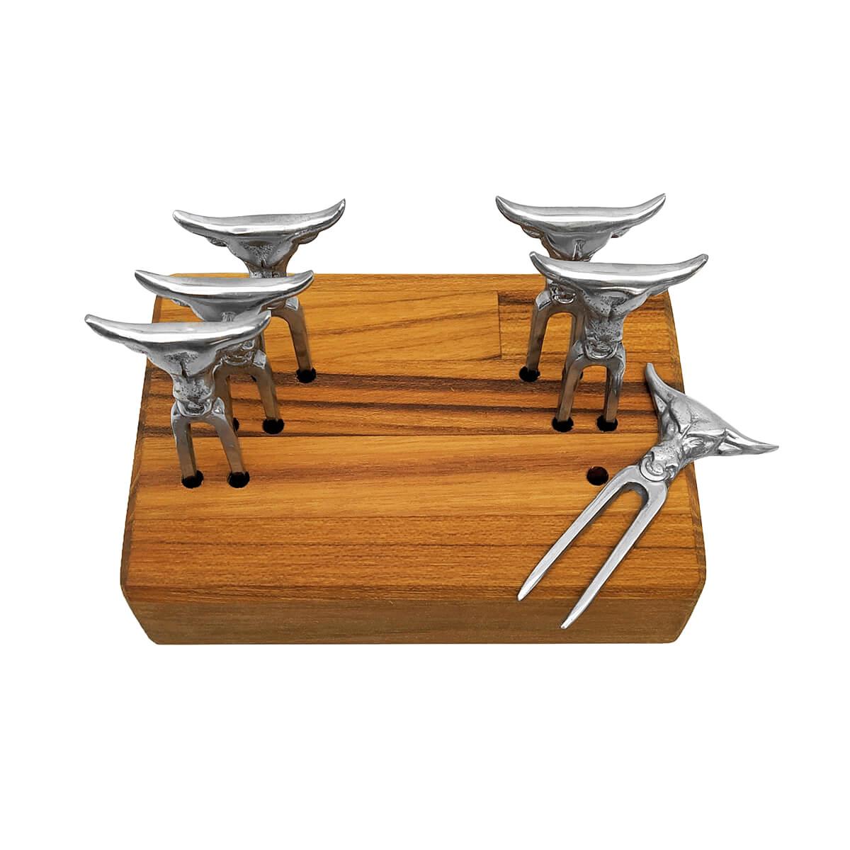 Kit 6 Mini Tridentes + Base Horizontal