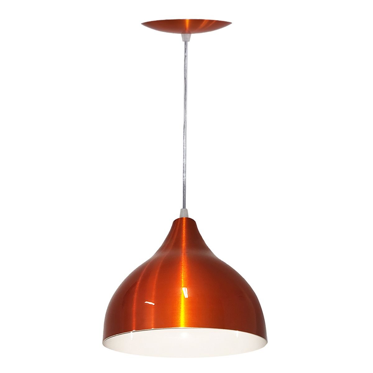Luminária Decorativa Ártemis Laranja Cobreado com Pendente
