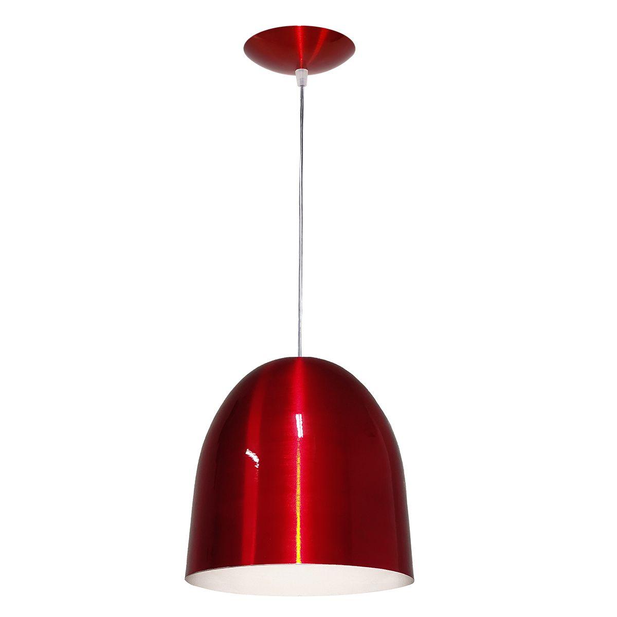 Luminária Decorativa Atena Vermelho Cereja com Pendente