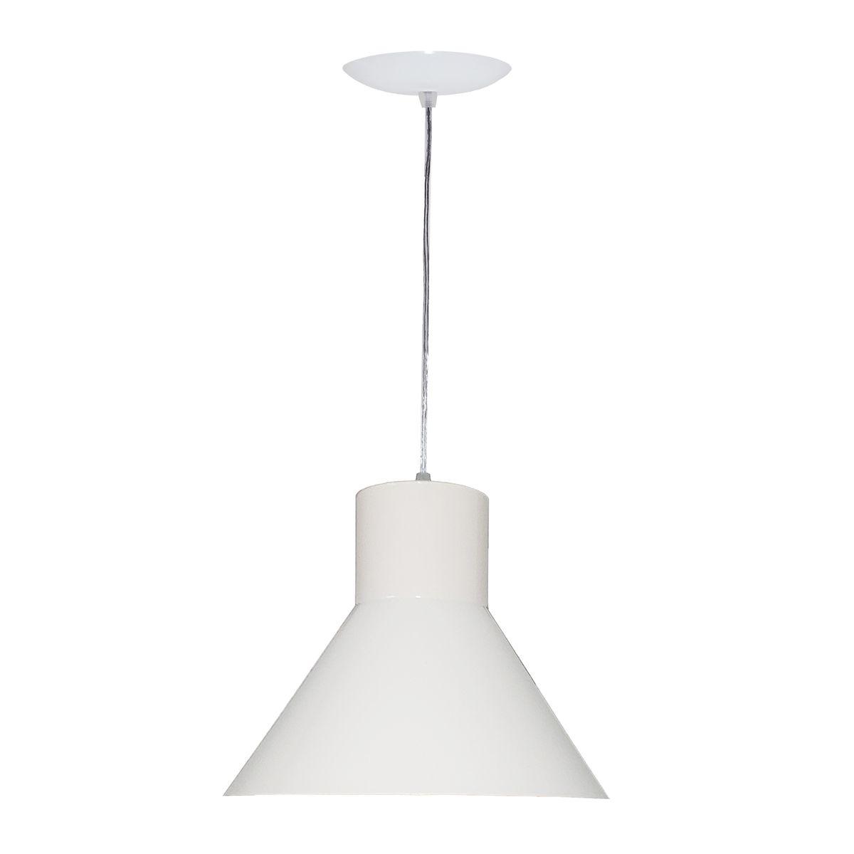 Luminária Decorativa Héstia Branco/Cobre com Pendente