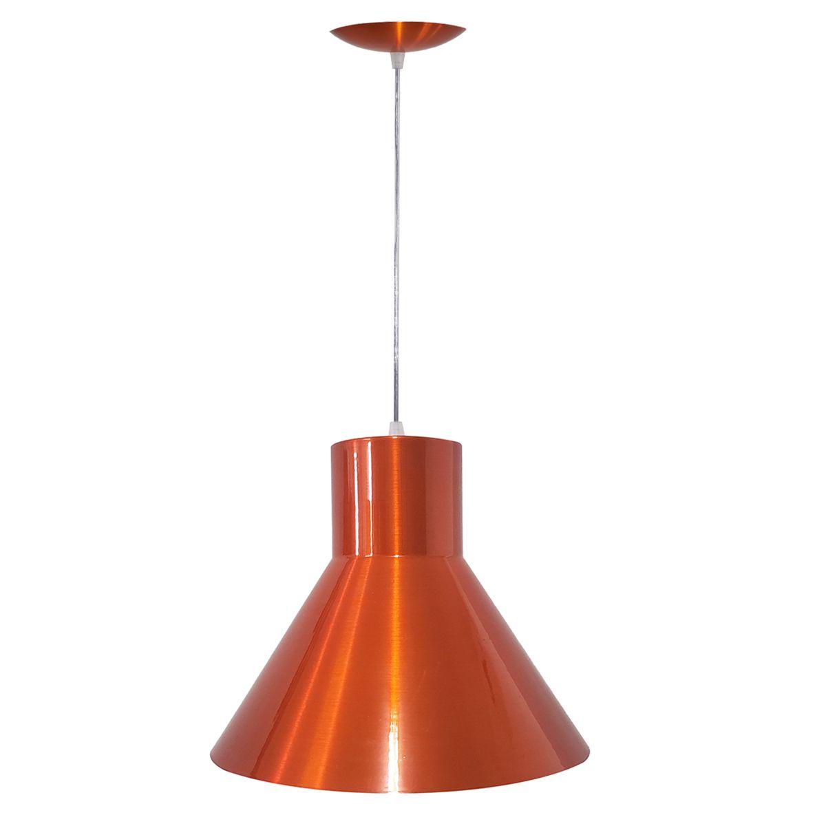 Luminária Decorativa Héstia Laranja Cobreado com Pendente