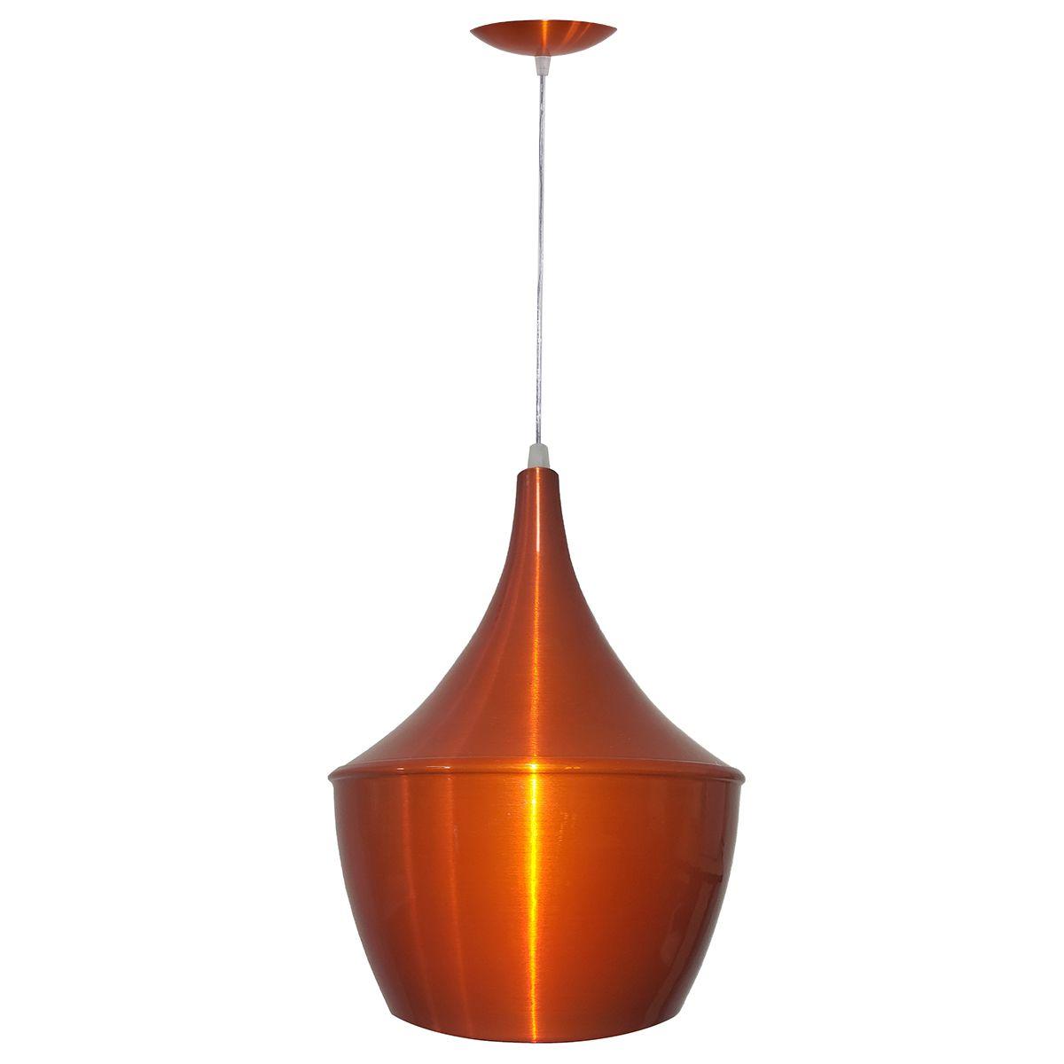 Luminária Decorativa New York Laranja Cobreado com Pendente