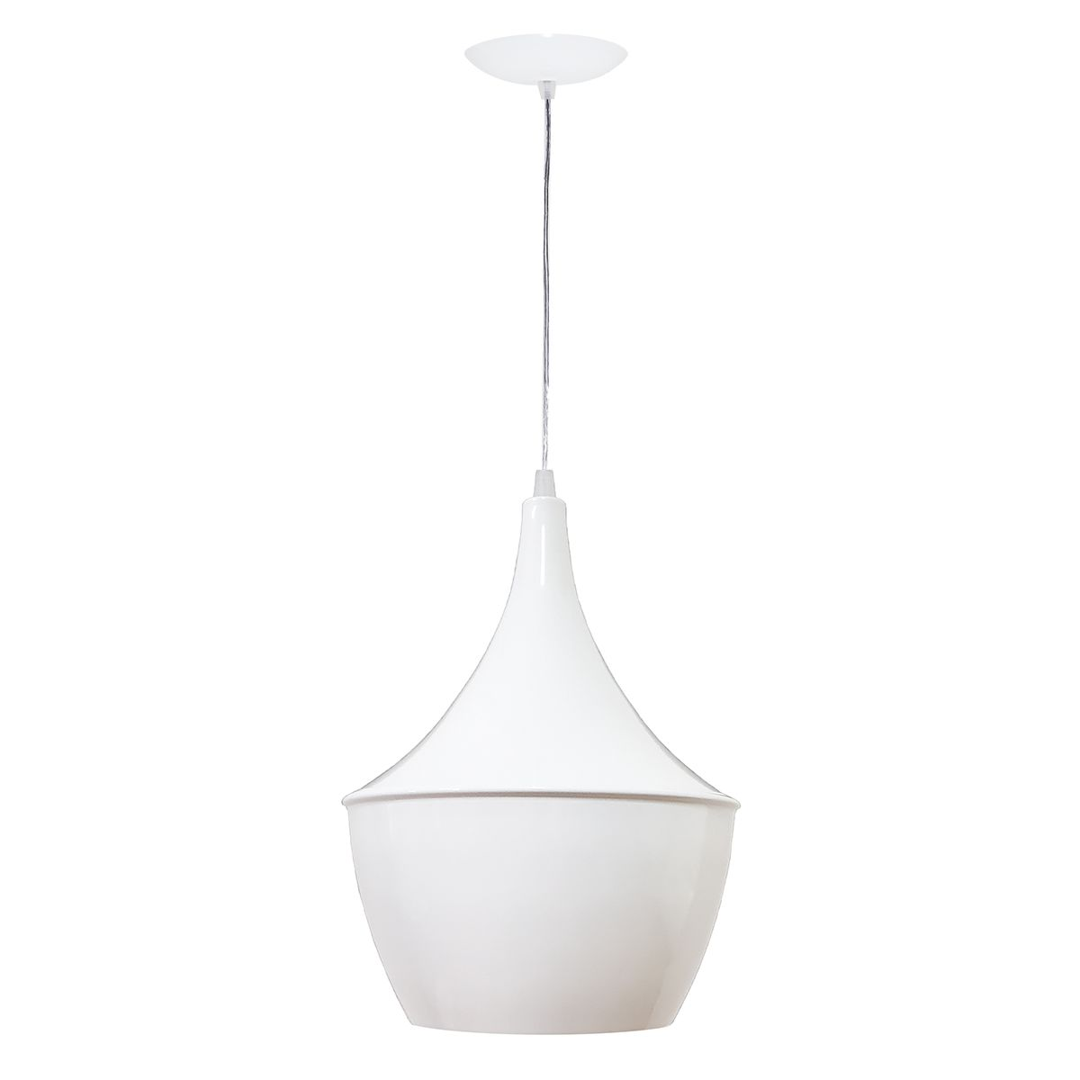Luminária Decorativa New York Mini Branco/Cobre com Pendente