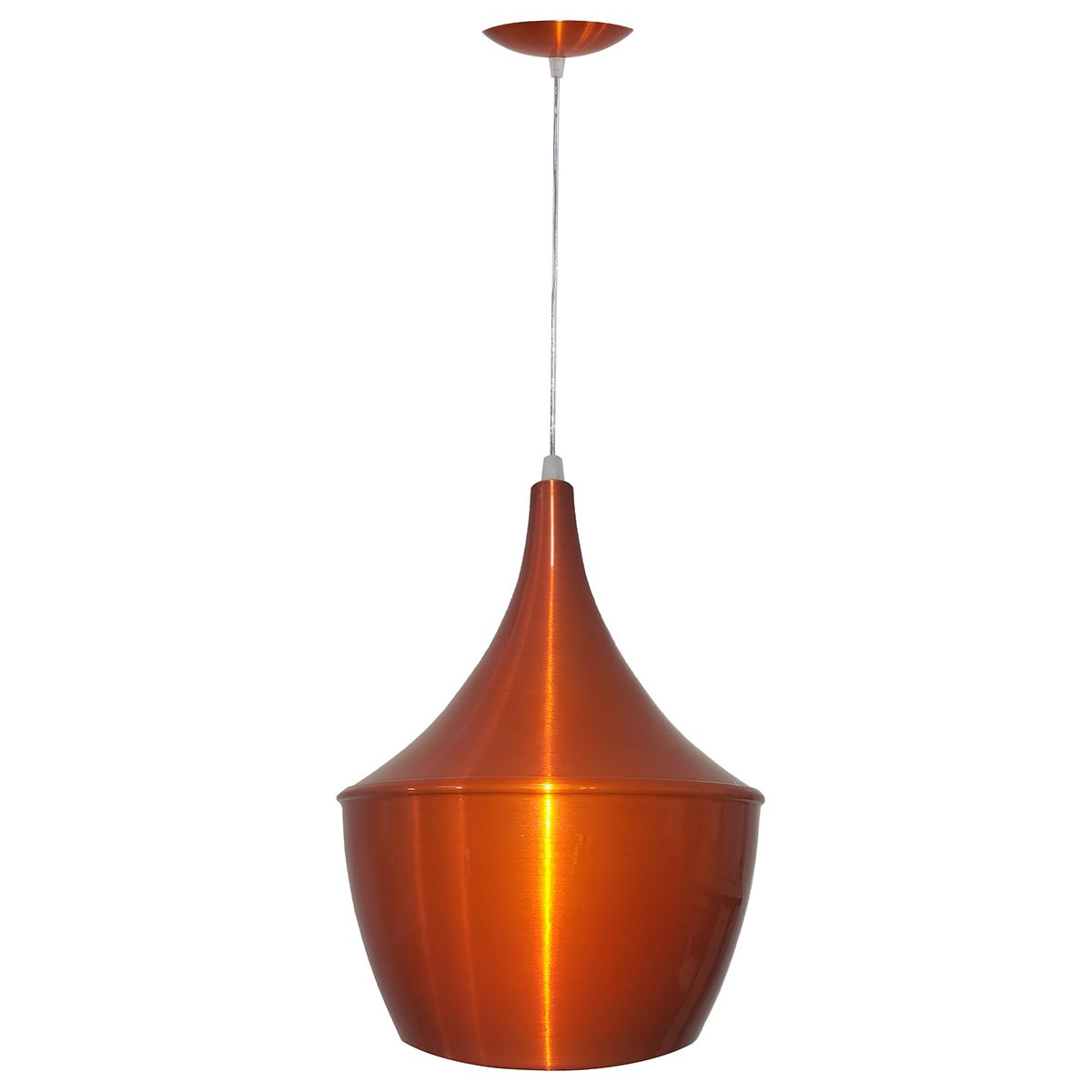 Luminária Decorativa New York Mini Laranja Cobreado Pendente