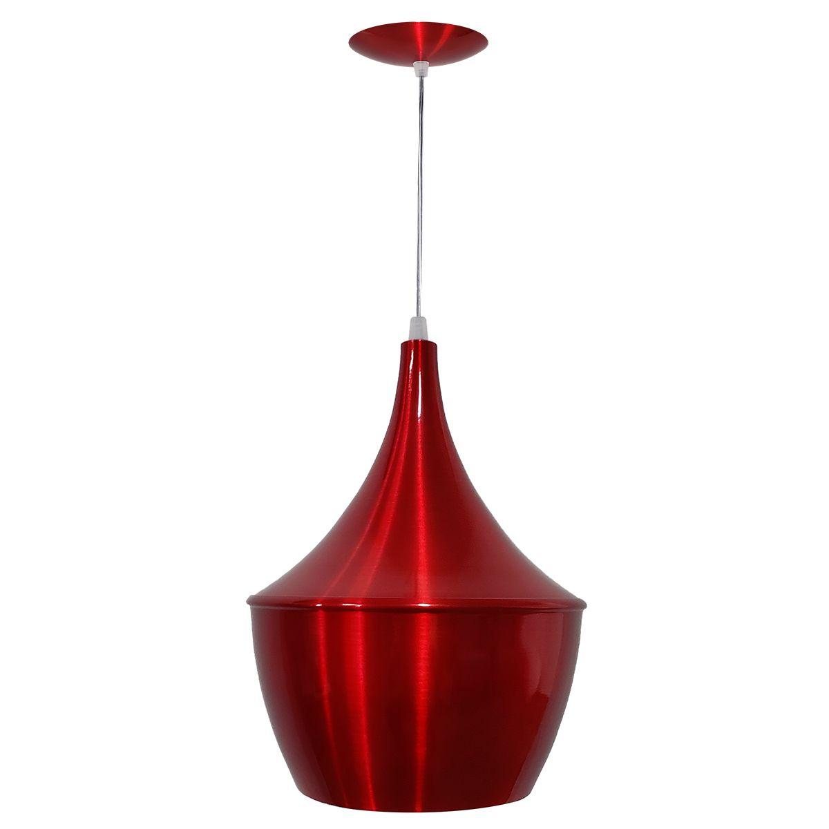 Luminária Decorativa New York Vermelho Cereja com Pendente