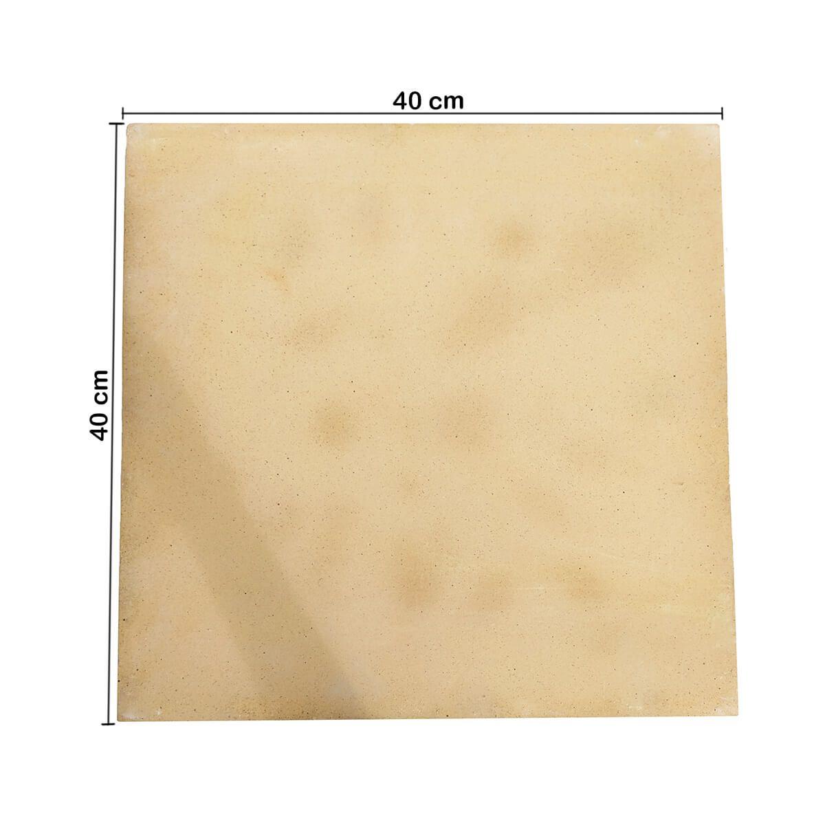 Pedra Refratária Cordierita 35 X 35 X 13mm para Pizza