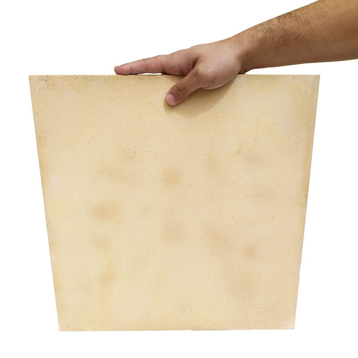 Pedra Refratária Cordierita  40 X 40 X 13mm para Pizza