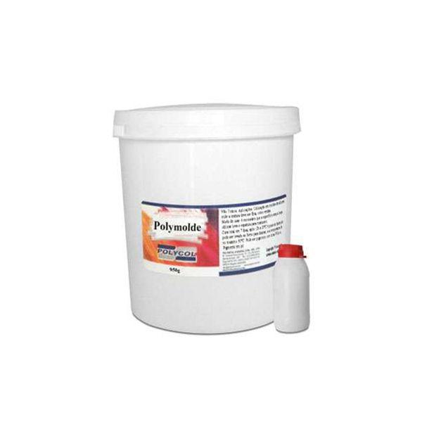 Polymolde - Borracha de Silicone Pote com 1kg Polycol
