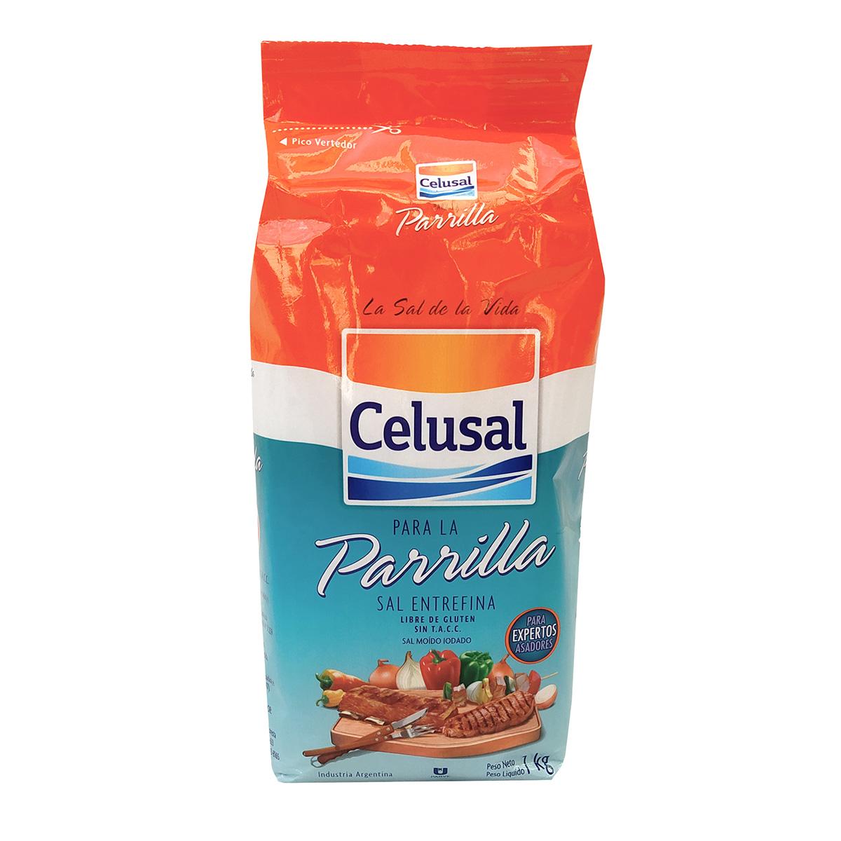 Sal para Churrasco Refil Celusal Entrefino Parrilla - 1kg