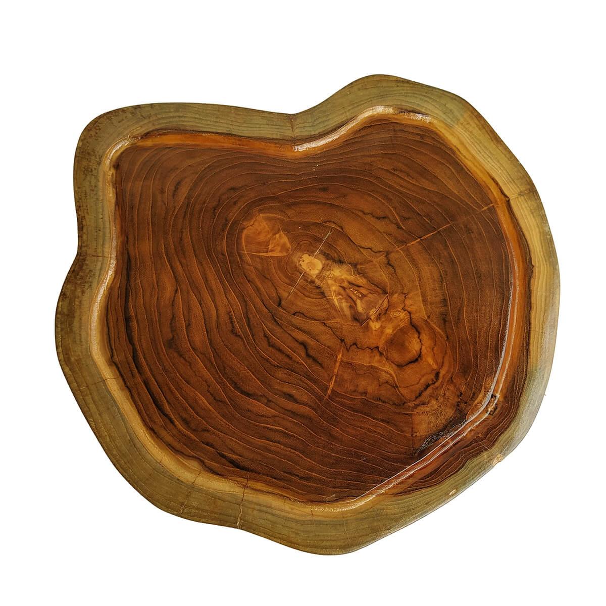 Tábua de Madeira Rústica Teca 33 x 29 cm
