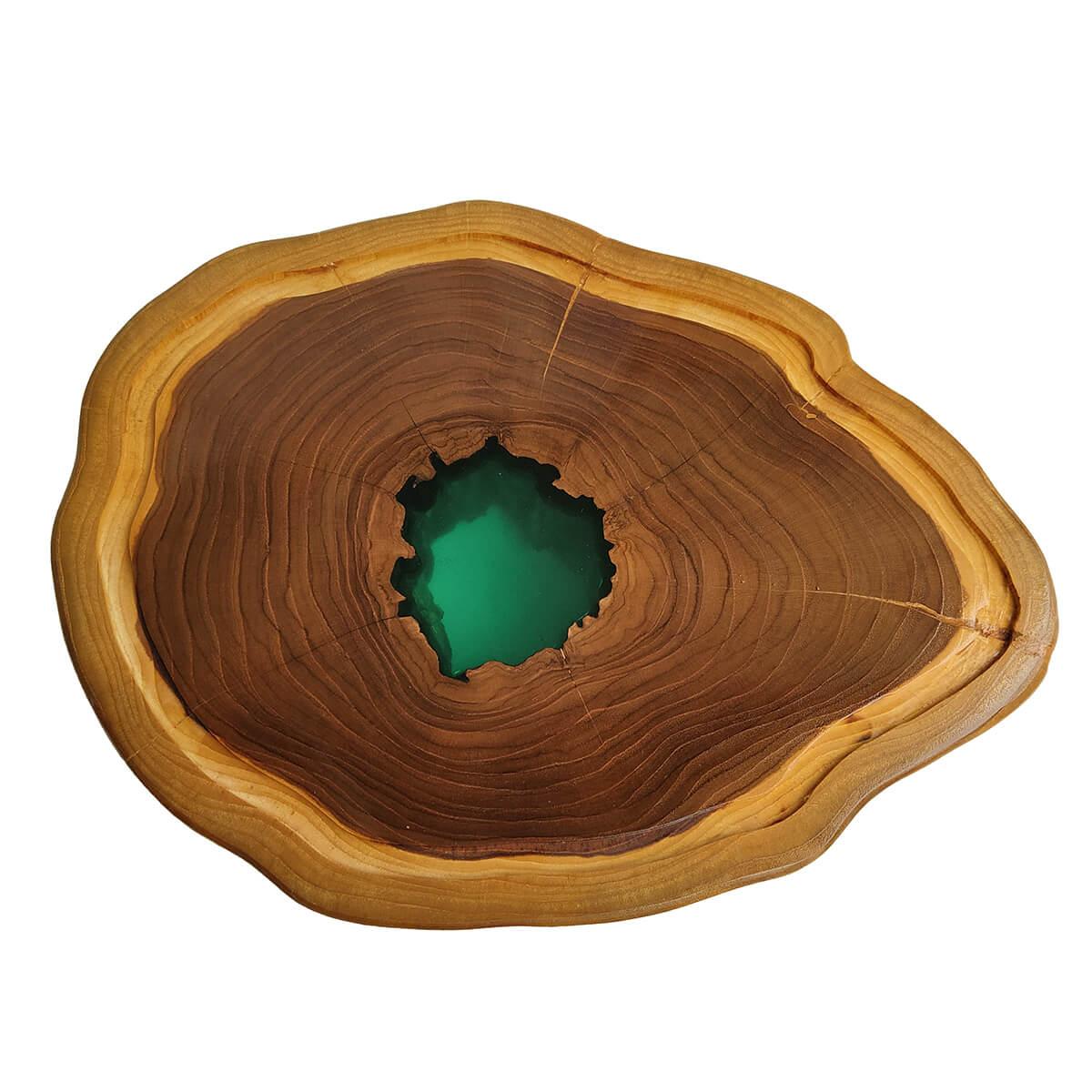 Tábua de Madeira Rústica Teca 40 x 30 cm