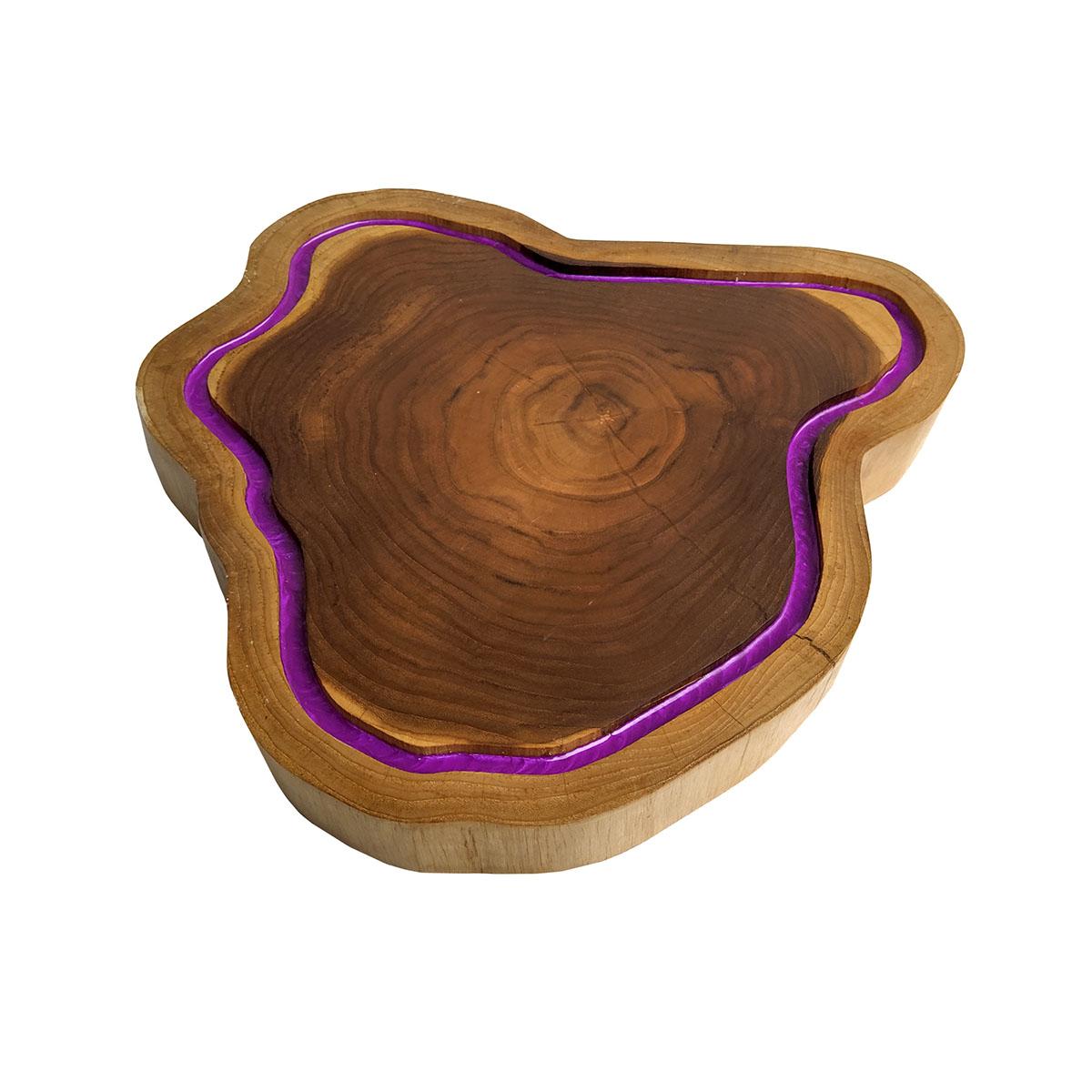 Tábua de Madeira Rústica Teca 42 x 40 cm