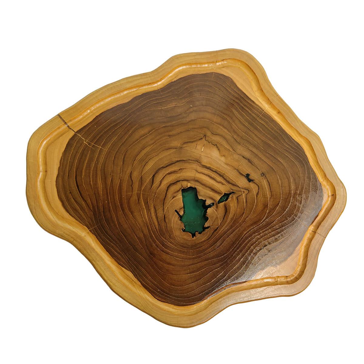Tábua de Madeira Rústica Teca 45 x 40 cm