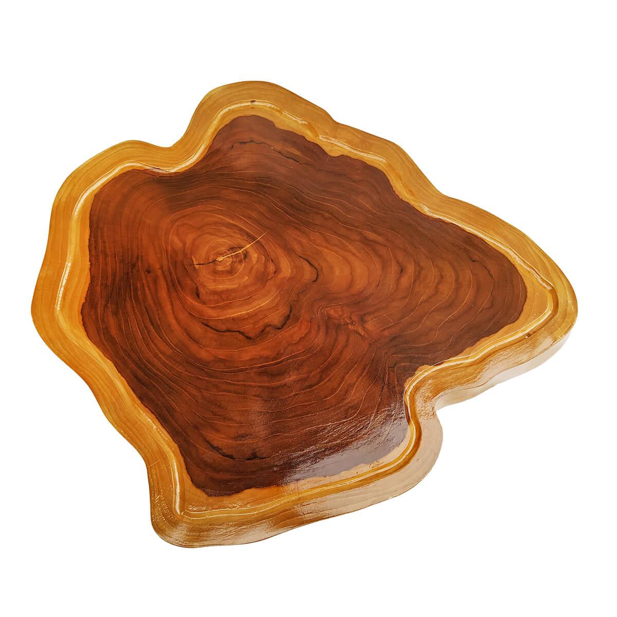 Tábua de Madeira Rústica Teca 52 x 44 cm