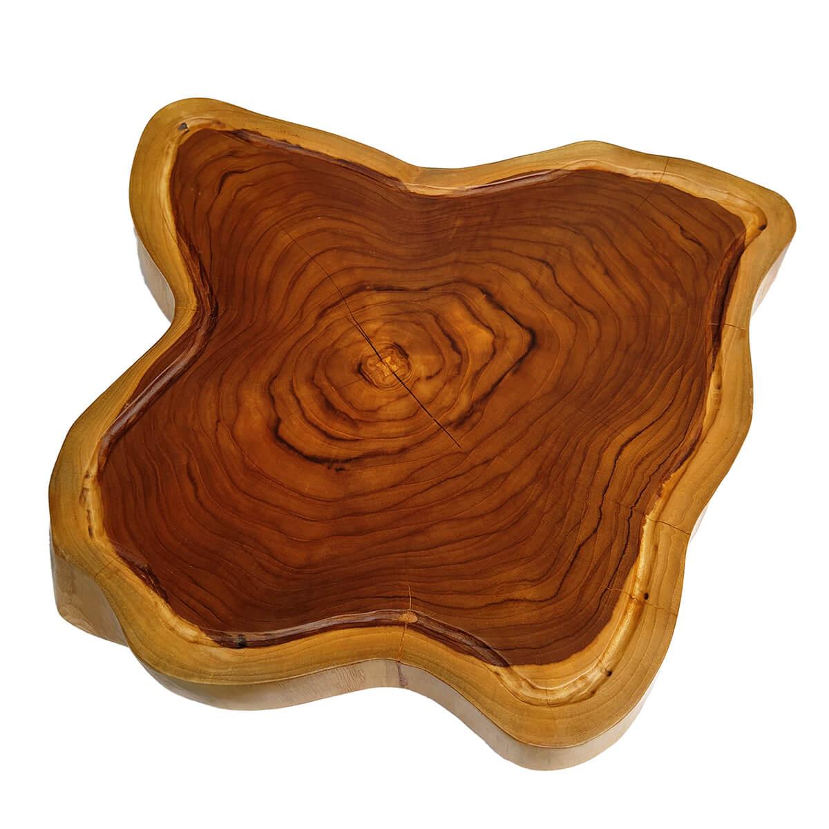 Tábua de Madeira Rústica Teca 54 x 52 cm
