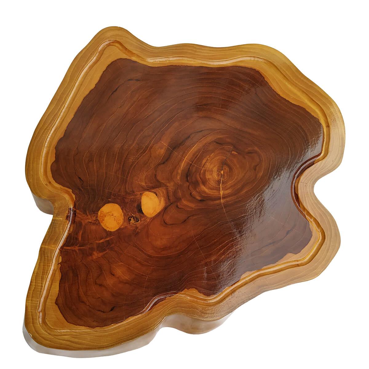 Tábua de Madeira Rústica Teca 57 x 43 cm