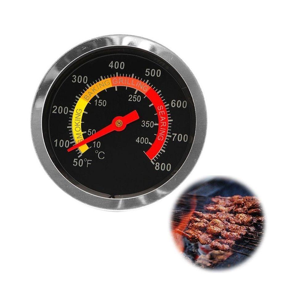 Termômetro Inox Para Churrasqueira A Bafo Assadeira Forno
