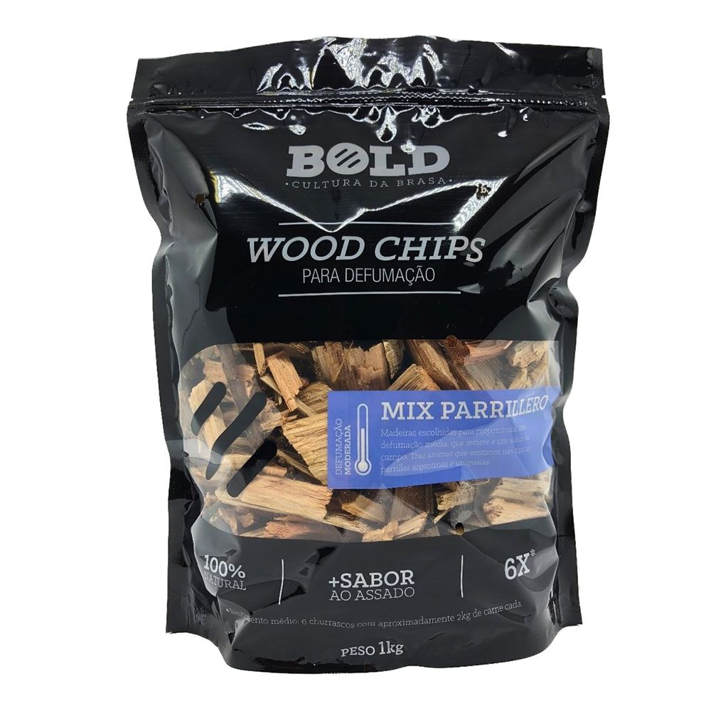 Wood Chips para Defumação - MIX PARRILLERO 1kg - Bold Chips