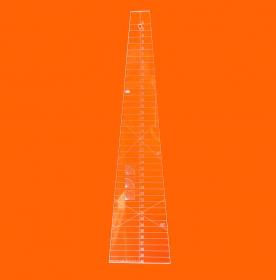 Régua Patchwork 10 graus de 40cm Cristal