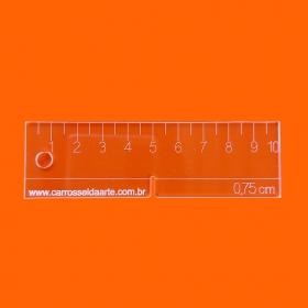 Régua Margem de Costura de 0,75cm  Cristal