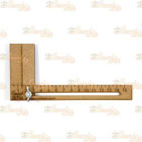 Régua para Cabelo de Boneca Mdf 15 cm