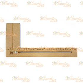 Régua para Cabelo de Boneca Mdf 30 cm