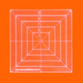 Régua para Patchwork Quadrado 12cm - Cristal