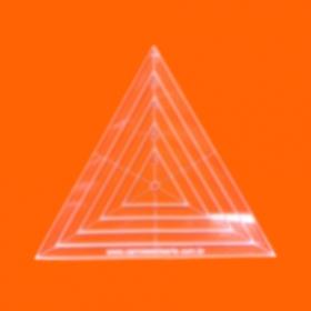 Régua para Patchwork Triângulo 12cm - Cristal