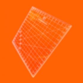 Régua Patchwork 20x20cm - Cristal