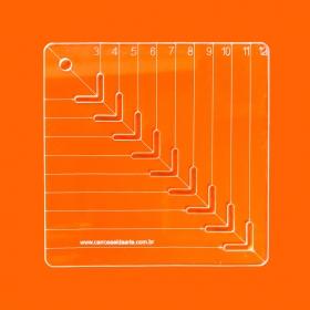 Régua Patchwork Caixinha De Leite 12 Cm - Cristal