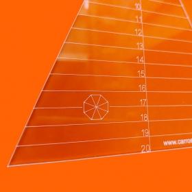 Régua Patchwork Caleidoscópio 60° - 8 Pétalas - Cristal