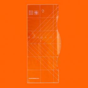 Régua Patchwork Curvas em Quadrados - Cristal