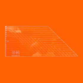 Régua Patchwork Losango 45° - Cristal