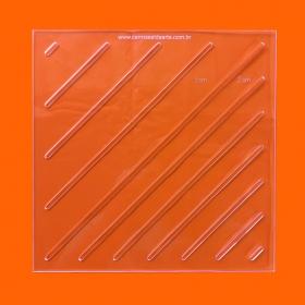 Régua Patchwork Matelassê Quit Reto - 20x20cm - Cristal