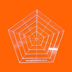 Régua Patchwork Pentágono 11cm - Cristal