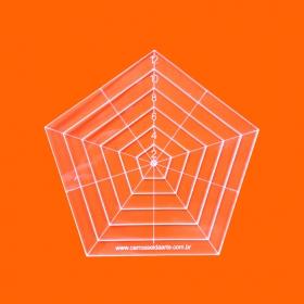Régua Patchwork Pentágono 12cm - Cristal
