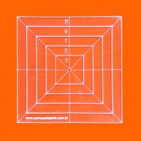 Régua Patchwork Quadrado 11cm - Cristal