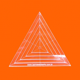 Régua Patchwork Triângulo 11cm - Cristal