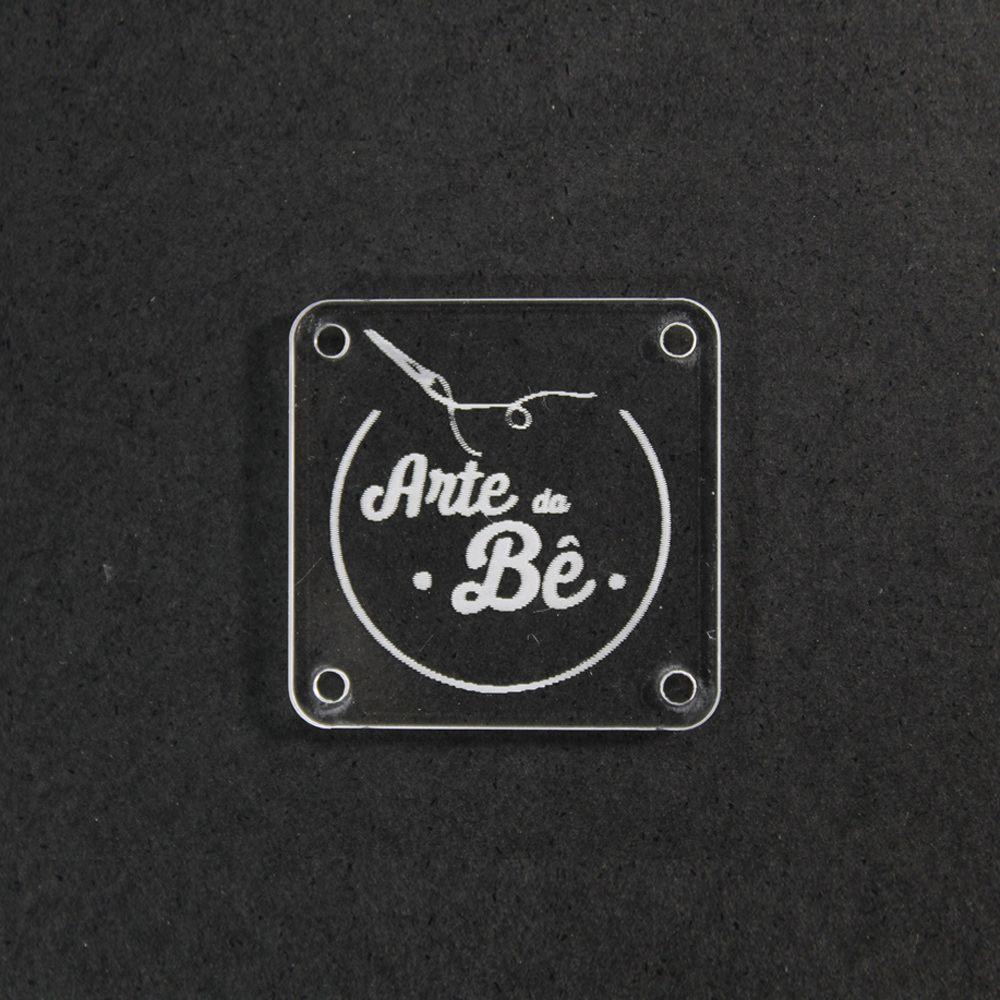 Etiqueta em  Acrílico Personalizadas 3 X 3 CM - 50unid - Quadrado