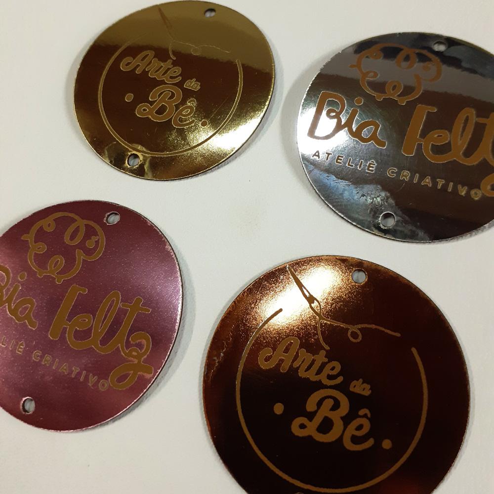 Etiqueta Espalhada Personalizadas 4 X 4 CM - 50unid - Redonda