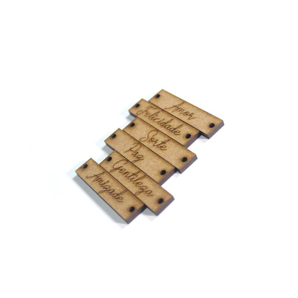 Etiqueta / Plaquinha em MDF 1,1 X 4,6 CM