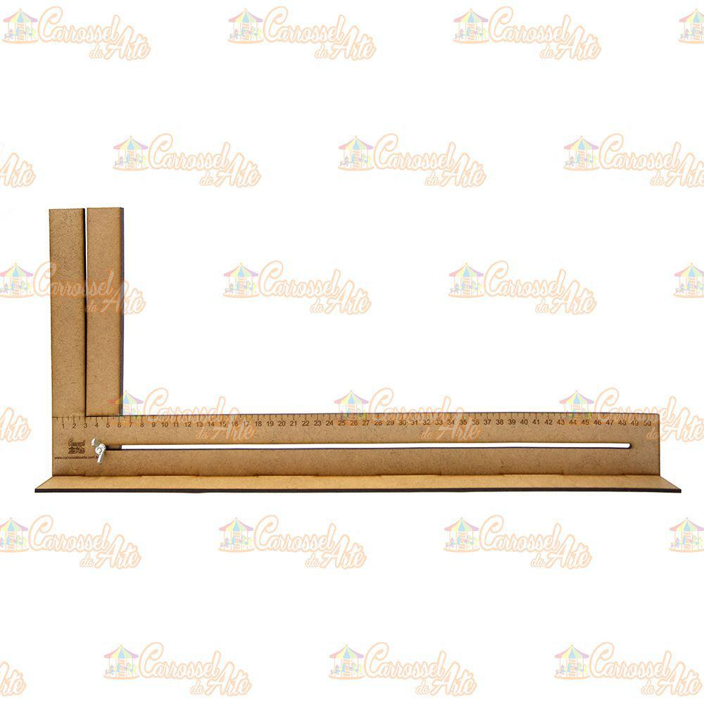 Kit Régua para Cabelo de Boneca 15, 30 e 50 cm - 40% desconto