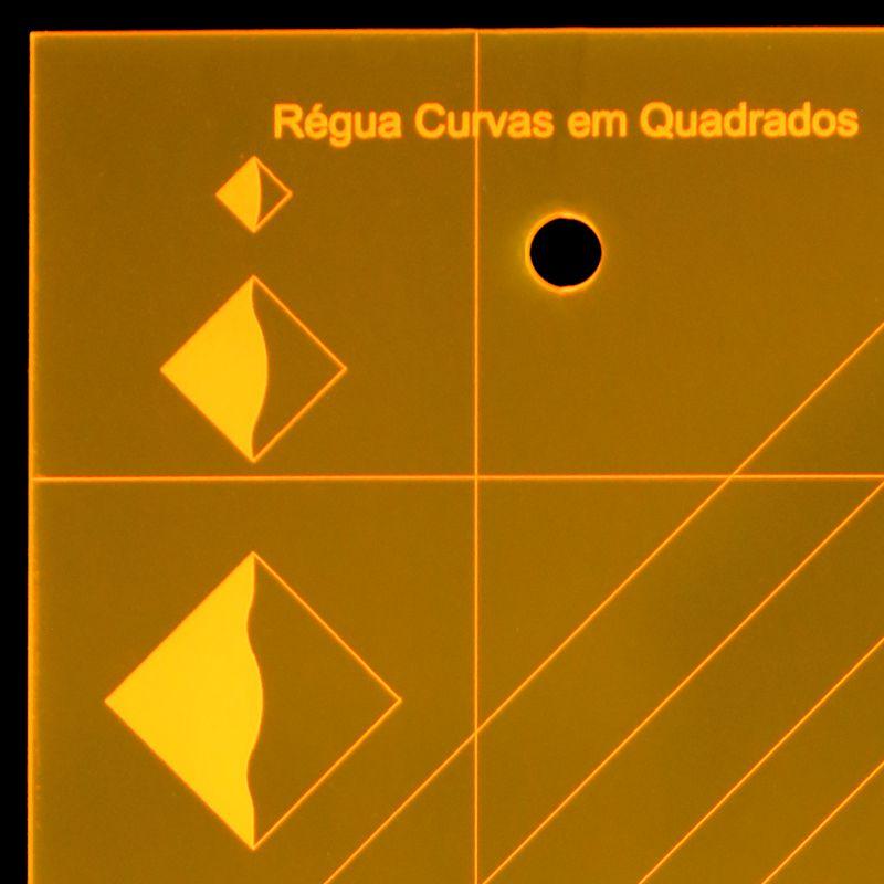 Régua para Patchwork Curvas em Quadrados